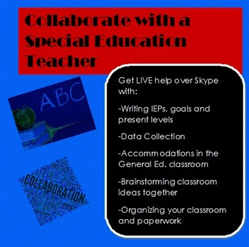 1 hour Collaboration Session with a Special Education Teacher