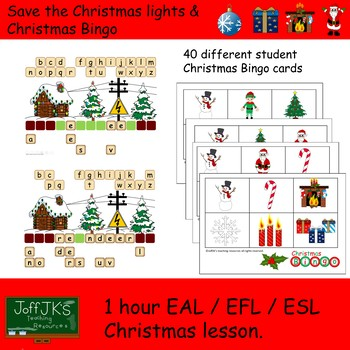 1 hour EAL EFL ESL Christmas Lesson