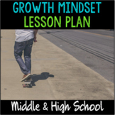 """School Counseling """"Growth Mindset"""" Lesson for Teens in Middle and High School"""