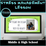 """School Counseling """"Stress Management"""" Lesson for Teens in Middle and High School"""