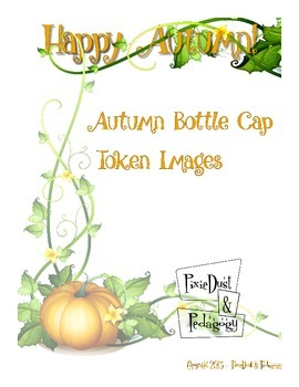 1 inch Autumn Bottle Cap Token Images for Token Jar Positive Behavior Support