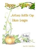 1 inch Autumn Bottle Cap Token Images for Token Jar Positi