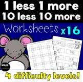 1 less 1 more 10 less 10 more Worksheets x 16