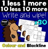 1 less 1 more 10 less 10 more Write and Wipe Cards x 30