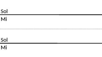 1-line Staff paper, Sol/Mi