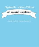 1 minute Discussion Questions for Spanish 3/AP Spanish