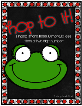 Leap Year Math Center:  1 more, 1 less, 10 more, 10 less:  Frog Theme