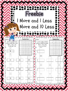 1 more 1 less and 10 more 10 less worksheet by Melissa Mcdermott