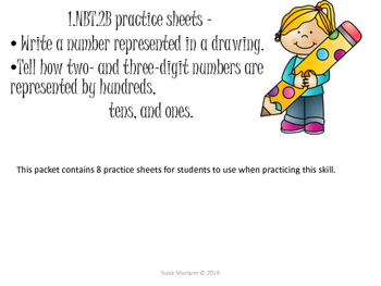 1.nbt.2b practice sheets - modeling a given number with base ten blocks