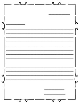 1 or 2 Page Letter Writing Template