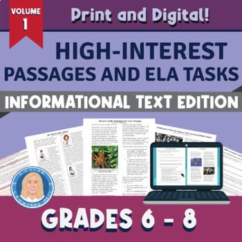 Informational Text Passages & Tasks Aligned to All 10 RI Standards Vol I