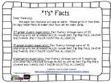 1's Facts (Fluency Flashcards/ Homework)