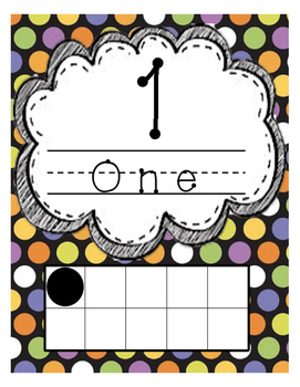 1 through 20 Number Line Anchor Posters
