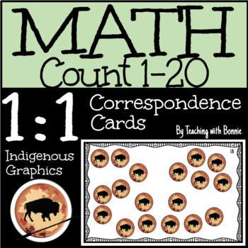 Math: 1 to 1 Correspondence Aboriginal Graphics New BC Curriculum