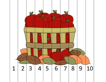 1 to 10 Apple Barrel Math Puzzle