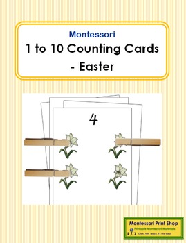 1 to 10 Counting Cards - Easter