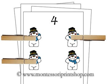 1 to 10 Counting Cards - Snowmen