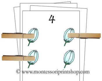 1 to 10 Counting Cards - Spring