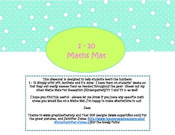 1 to 10 Maths Mat