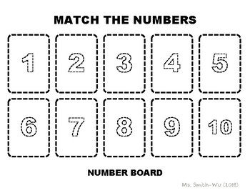 Number Board, 1 to 10