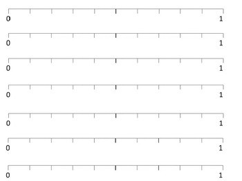 1 to 10 Number Lines
