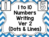 1 to 10 Numbers Writing Version 2  (Dots & Lines)