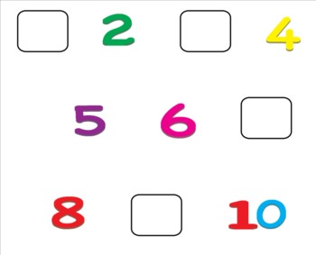 1 to 10 Write in Missing Numbers