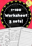 Numbers 1 to 100 Activity Sheets for Kindergarten