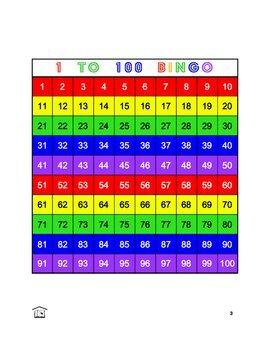 1 to 100 Bingo