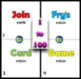 1 to 100 Fry's/Sight Words ~ Card Game ~ 50 Cards + 10 + Board