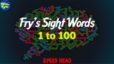 1 to 100 Fry's Sight Words - Speed Read PPT