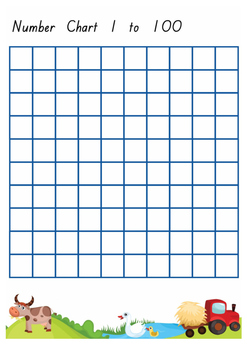 1 to 100 Number Grid