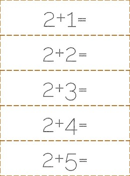 1 to 12 Math dots Addition Facts Tracing, Math Center Activity