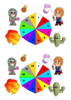 1 to 12 RPG themed spinner