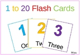 1 to 20 Flash Cards