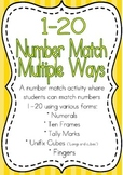 1 to 20 Number Matching Multiple Ways