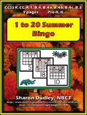 1 to 20 Summer Bingo