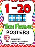 1 to 20 Ten Frame Chevron Posters