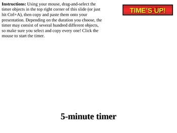 1 to 5-minute Powerpoint countdown timer with seconds
