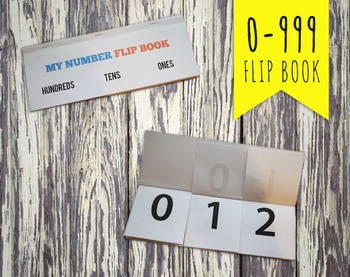 1 to 999 Numeral Hundreds Tens and Ones Flip Book Project Math Station