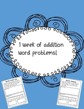 1 week of addition word problems!!