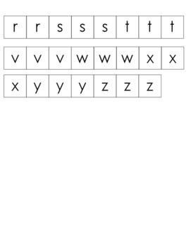 1'' x 1'' alphabet letter tiles