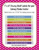 "1"" x 6"" Non-Fiction Dewey Shelf Labels for your Library Media Center - Chevron"