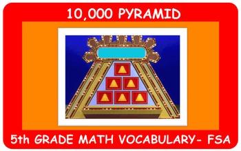 10,000 Pyramid 5th Grade Math Vocabulary Game-FSA