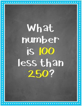 10/100 More - 10/100 Less BUNDLE (Bingo, Task Cards ...