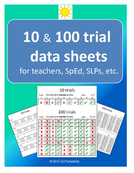 10 & 100 Trial data sheets