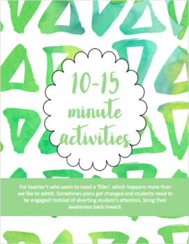 10-15 Minute Mindfulness Activities