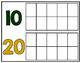 10-180 Ten Frame Number Chart: School Spirit - Green & Gold
