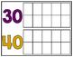 10-180 Ten Frame Number Chart: School Spirit - Purple & Gold