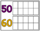 10-180 Ten Frame Number Chart: School Spirit - Purple & Gold